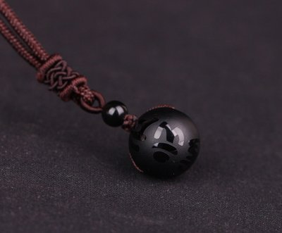 MOON china black- Necklace