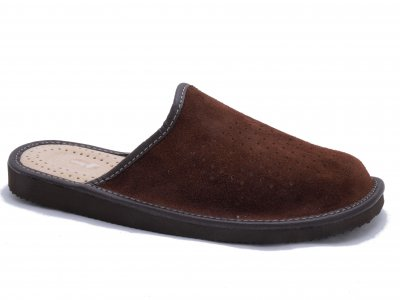 SIGVARD - Perforated Suede Brown